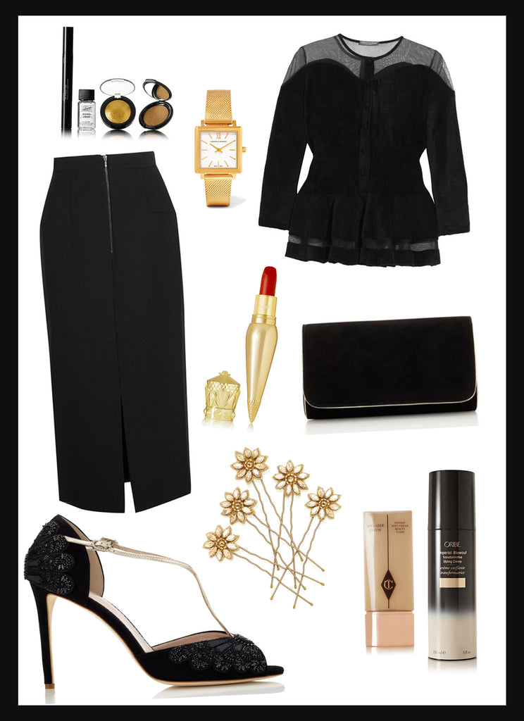 Black & Gold inspired outfit 3