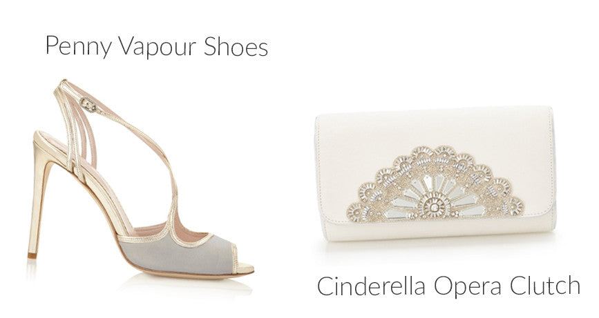 Penny Vapour Shoes and the Cinderella Opera Clutch Bag