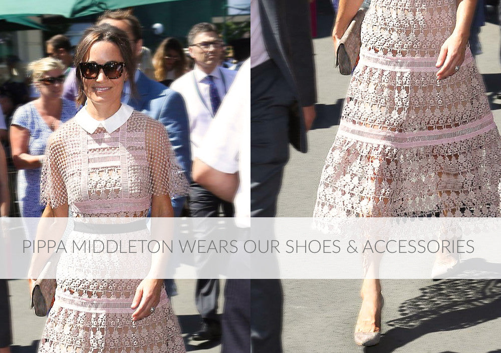 Pippa Middleton Wears Emmy London Shoes and Accessories to Wimbledon and Wedding