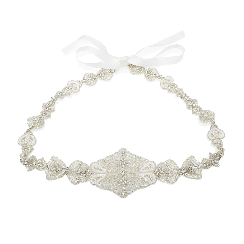 Aurelia Belt - Bridal Accessories - Belts - Teardrop Pearls and Crystal Trim