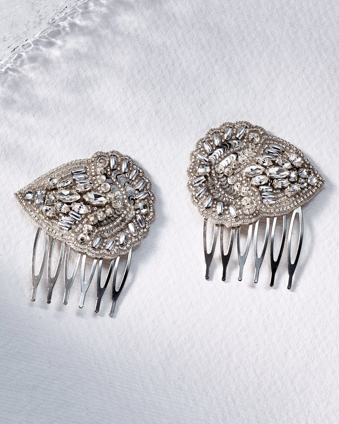 Aurelia Bridal Leaf Shape Combs by Emmy London