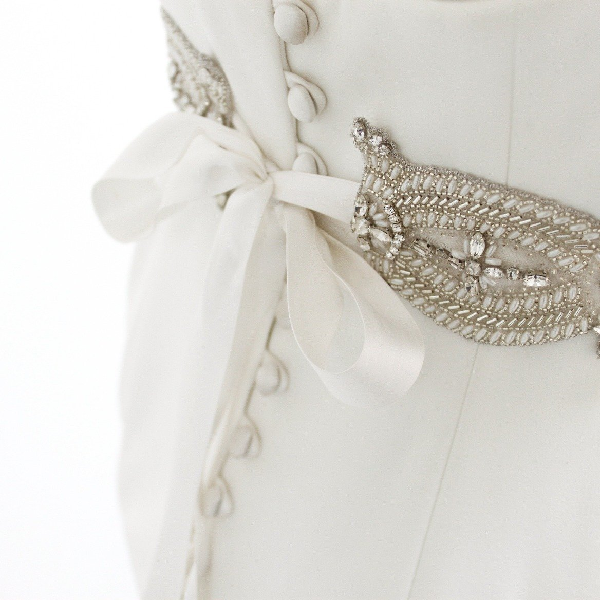 Silk satin ribbon tie Bridal Belt Angelina By Emmy London