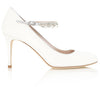 Ava Wedding Shoes with Crystal Strap By Emmy London