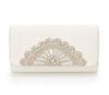 Cinderella Opera Clutch - Bridal Accessories - Ivory Kid Suede - Clutch - Bag - Mirror Beading and Swarovski Crystals
