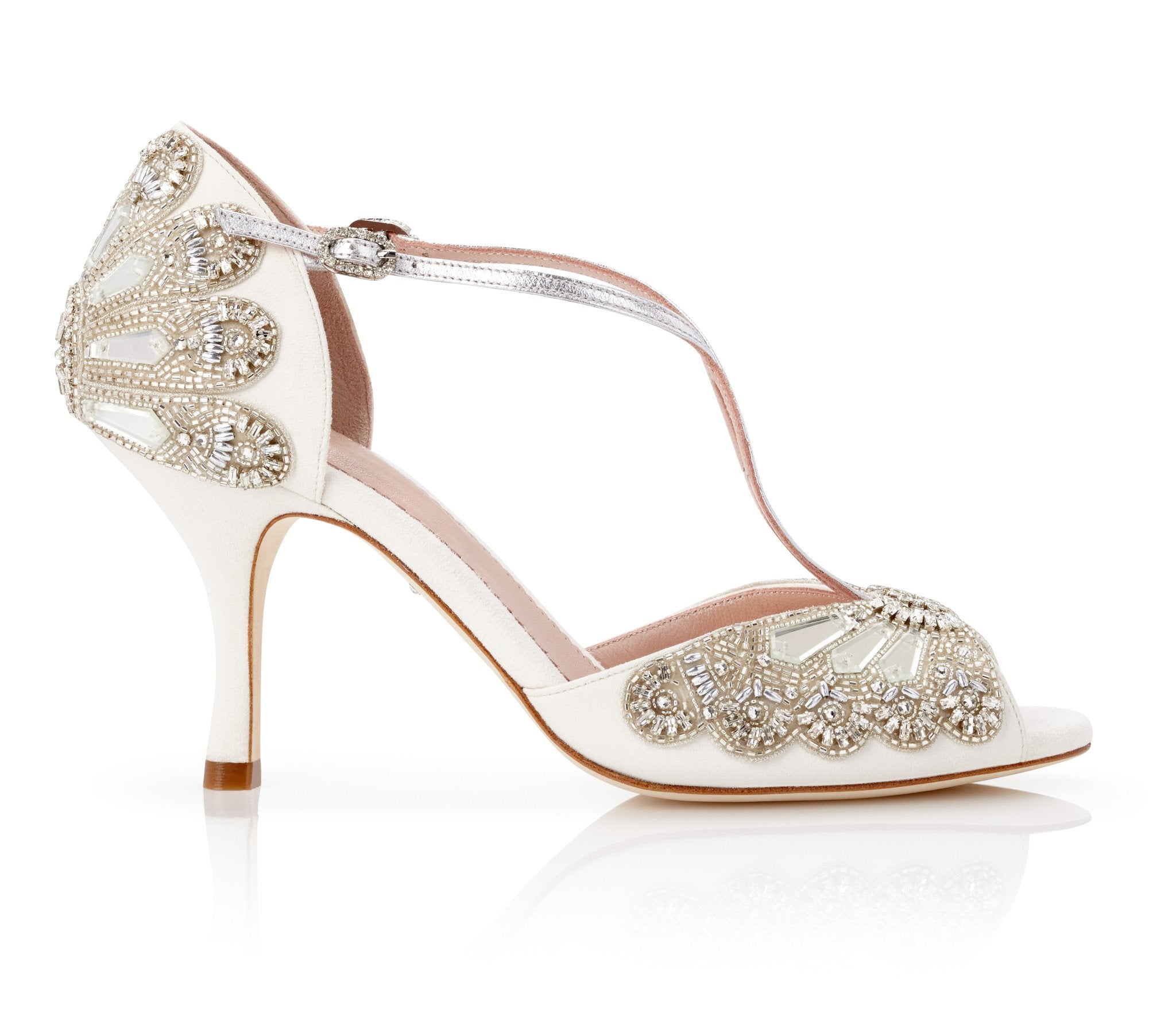 Cinderella_Mid_Heel_Bridal_Shoe_Emmy_London_Embellished_Silver_T-Bar
