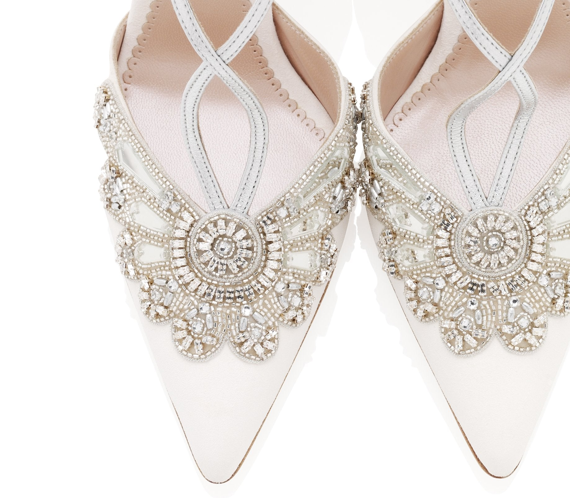 Emmy London Wedding Shoes Crystal Details, Close Up