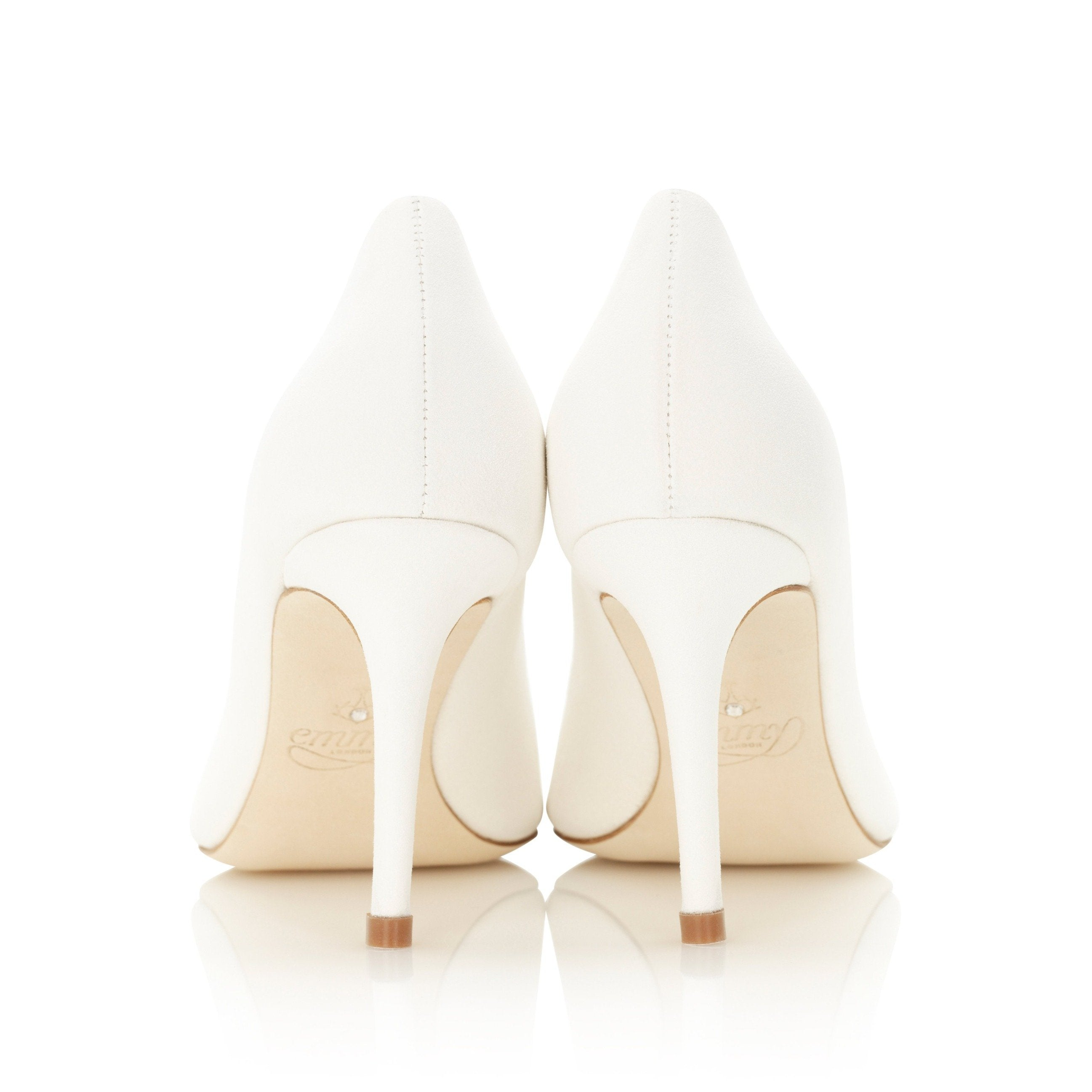 Bridal Court Shoes Heel Shot By Emmy London