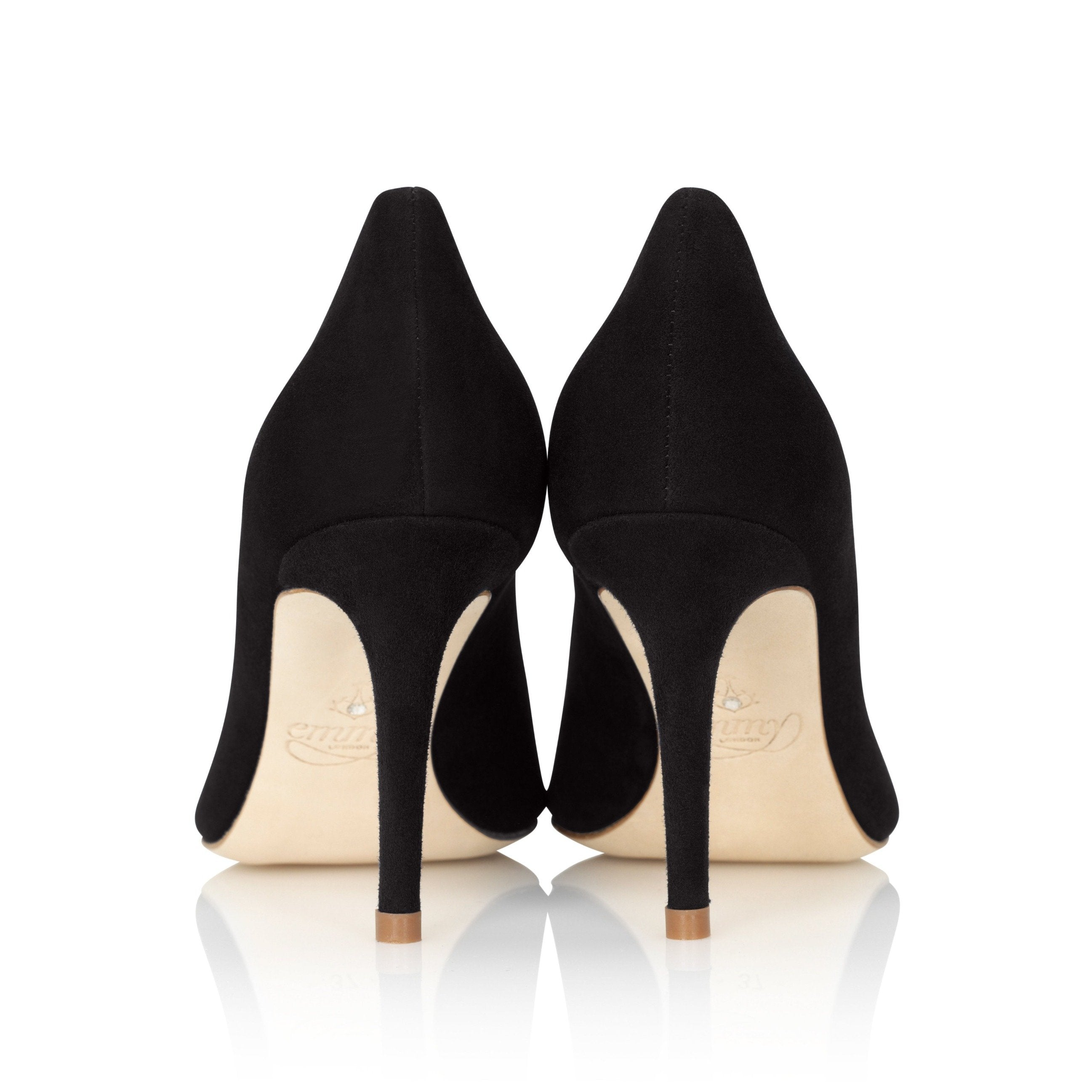 Claudia Jet Court Shoes By Emmy London Mid Heel Shot
