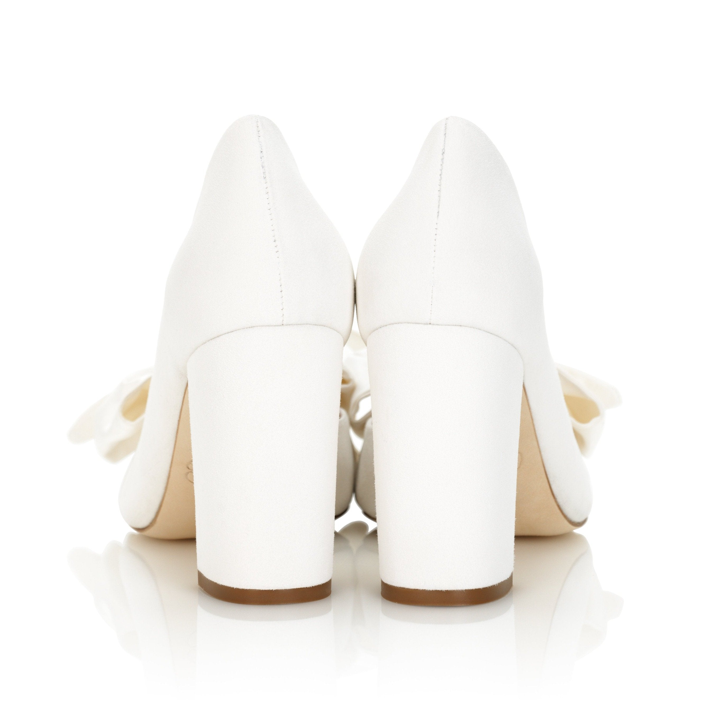 Emmy London Florence Block Heel in Ivory