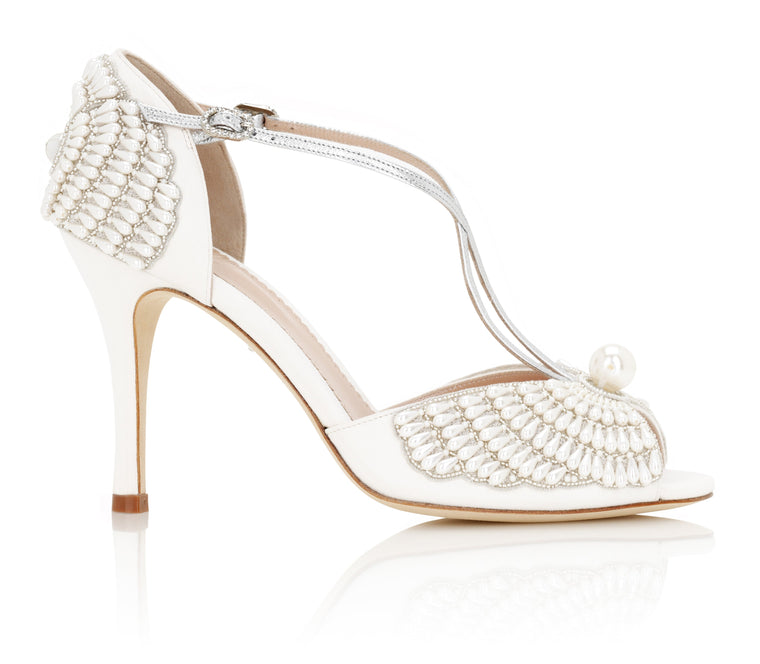 Gabriella Pearl Covered Bridal Shoes By Emmy London