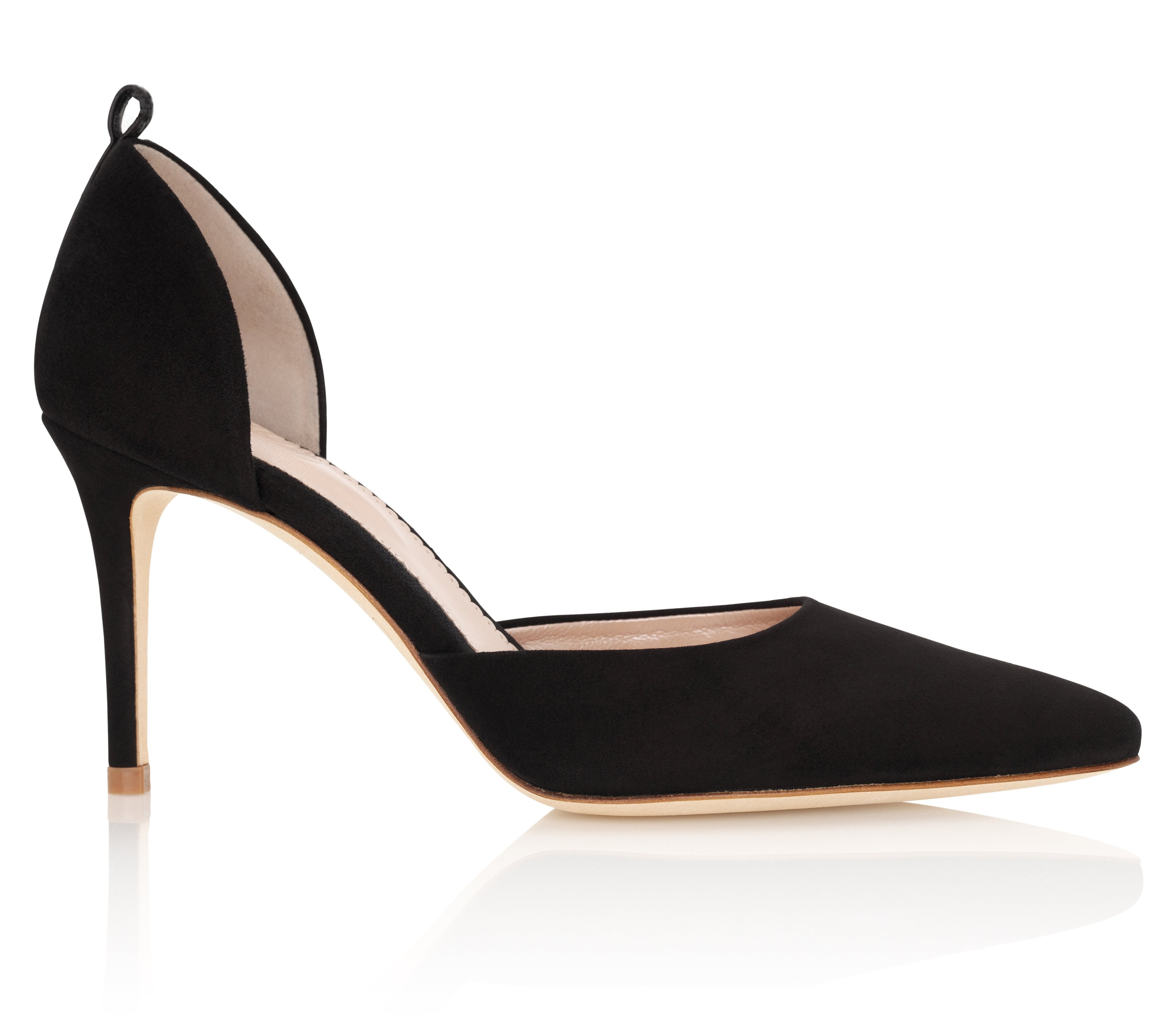 Luxury Evening Shoes Harriet Jet By Emmy London No Strap