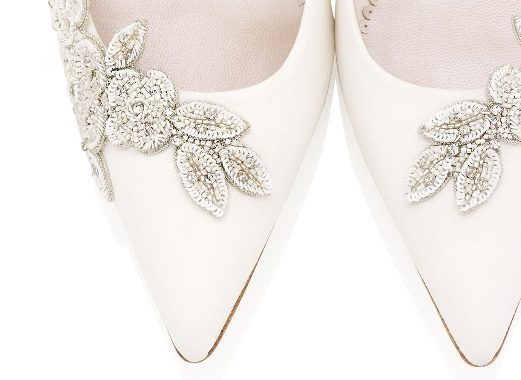 Isadora Ivory Elegant Bridal Shoes By Emmy London Close Up of Toes & Details