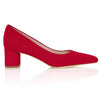 Josie Kitten Heel In Lipstick Red Luxury Shoes By Emmy London