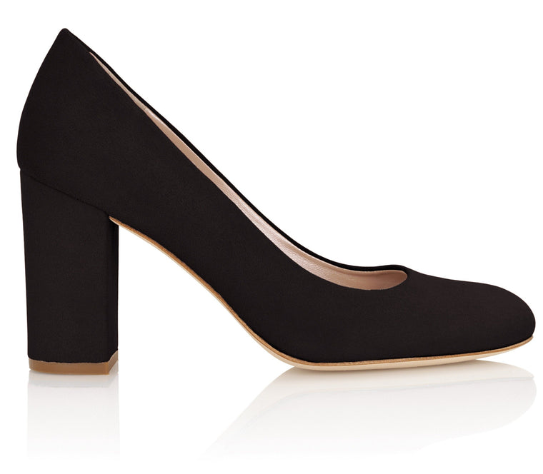 Occasion Black Pumps with Block Heel Designed By Emmy London
