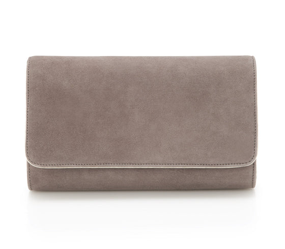 Natasha Cinder - Occasion Accessories - Cinder Kid Suede - Clutch - Bag - Gold Leather Trim