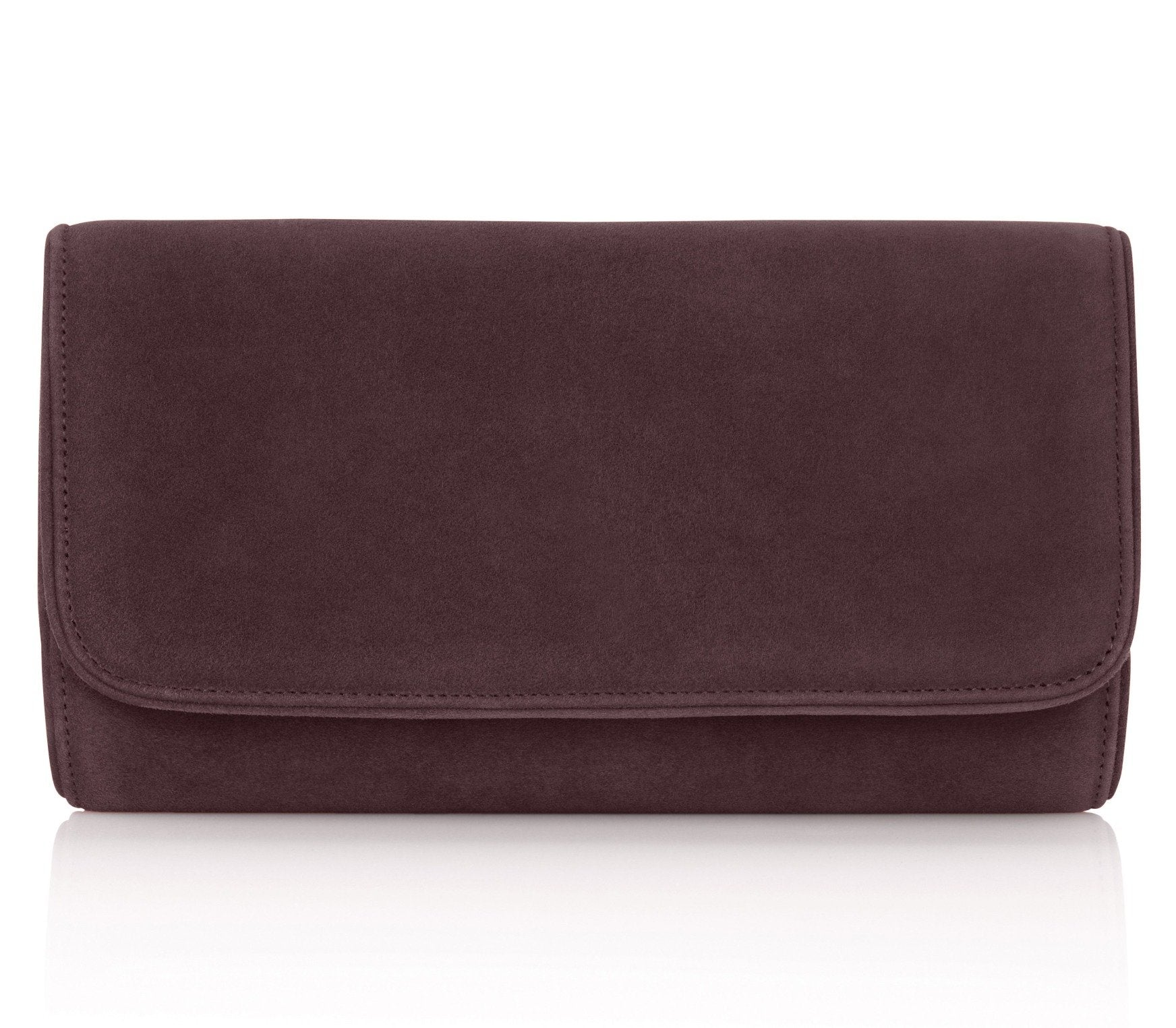 Natasha Mocha Self Piped Clutch Bag By Emmy London