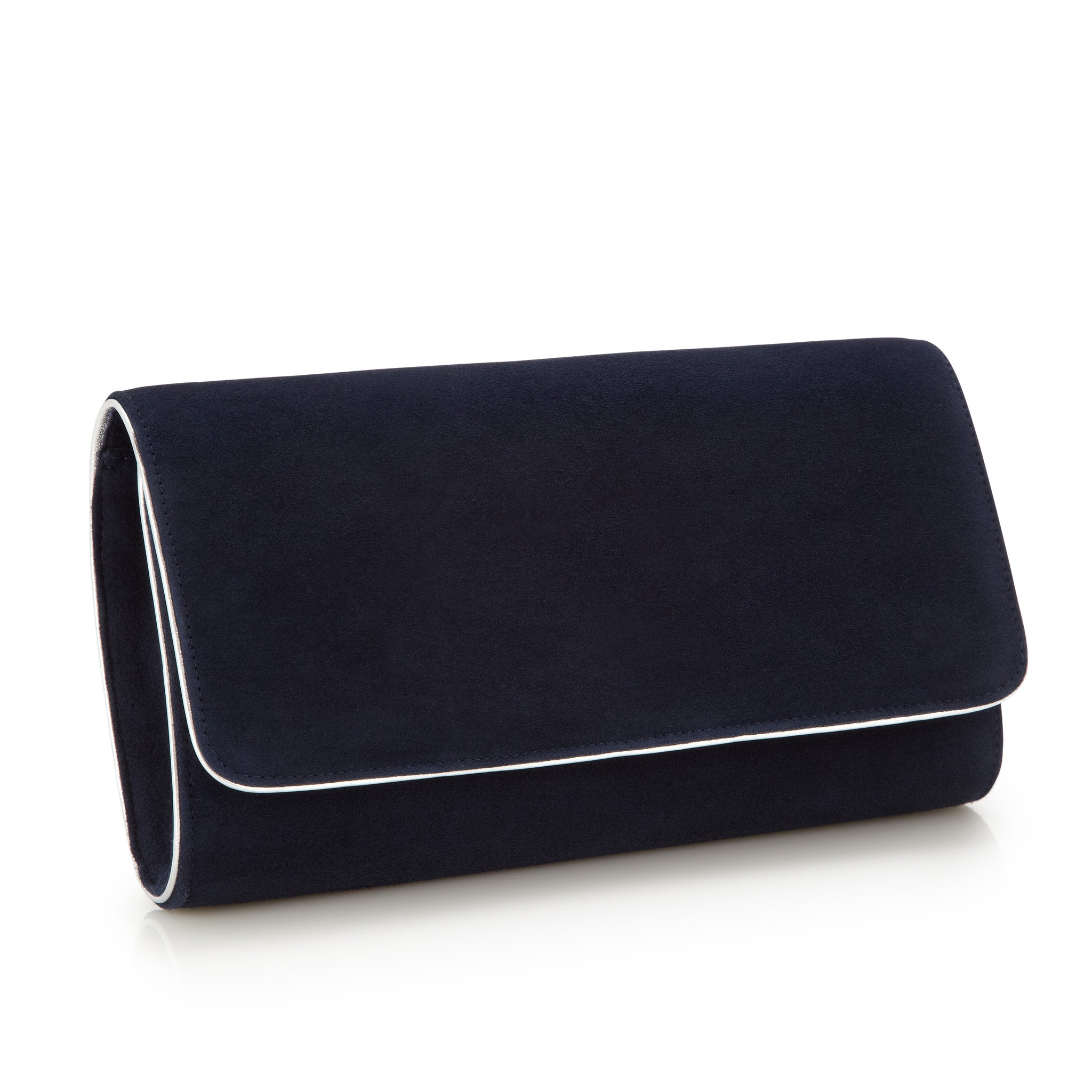296675dd21da ... Natasha Midnight - Occasion Accessories - Midnight Kid Suede - Clutch -  Bag - Silver Leather ...
