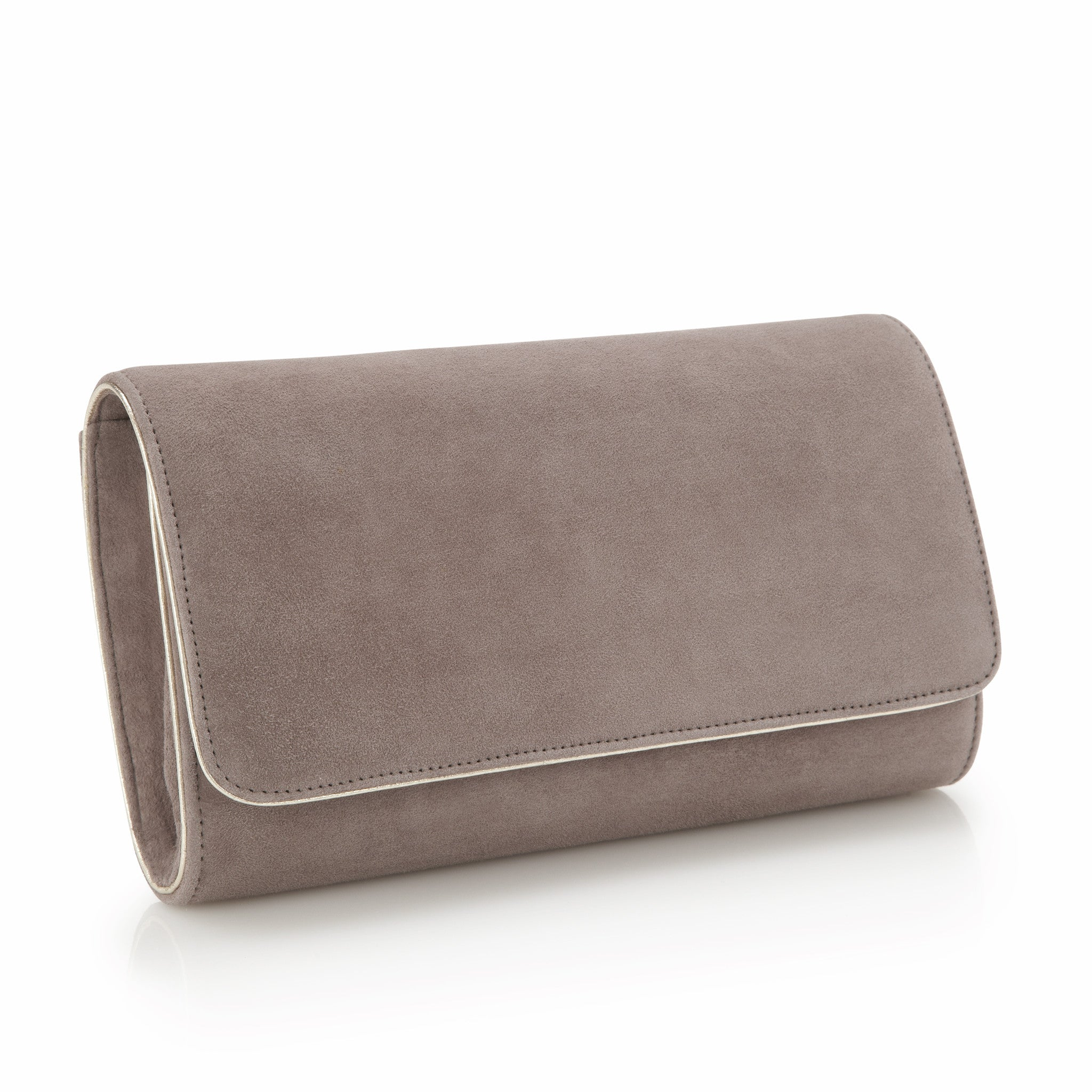 4abf86eed4 ... Natasha Cinder - Occasion Accessories - Cinder Kid Suede - Clutch - Bag  - Gold Leather ...