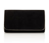 Emmy London Natasha Jet Black Clutch Bag with Gold Chain Strap
