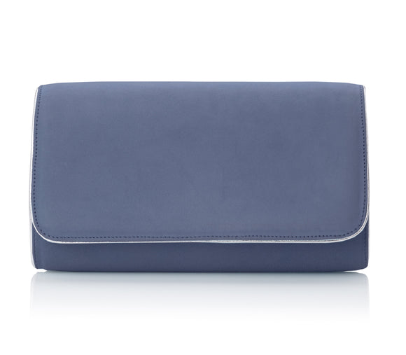Natasha Riviera and Silver Suede Clutch by Created by Emmy London