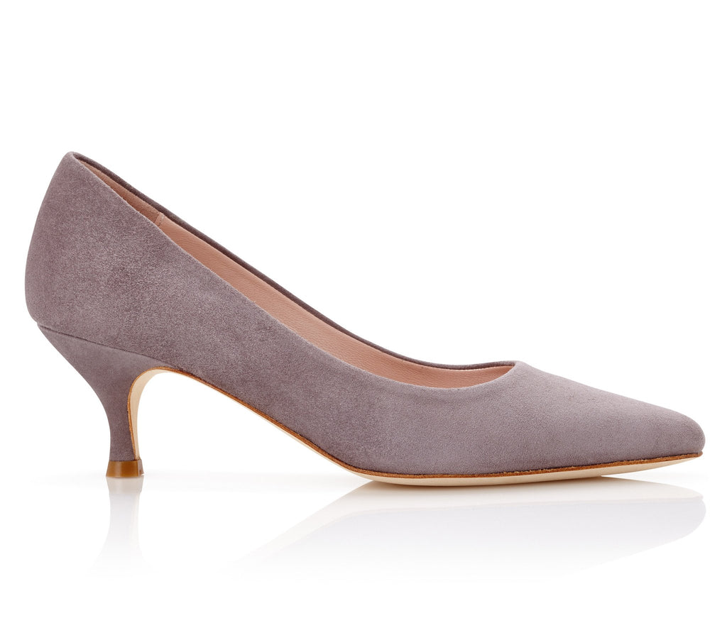 Olivia Kitten Cinder Emmy London Dark Grey Court Shoes