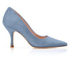 Suede Mid Heel Designer Court Shoes Designed By Emmy London