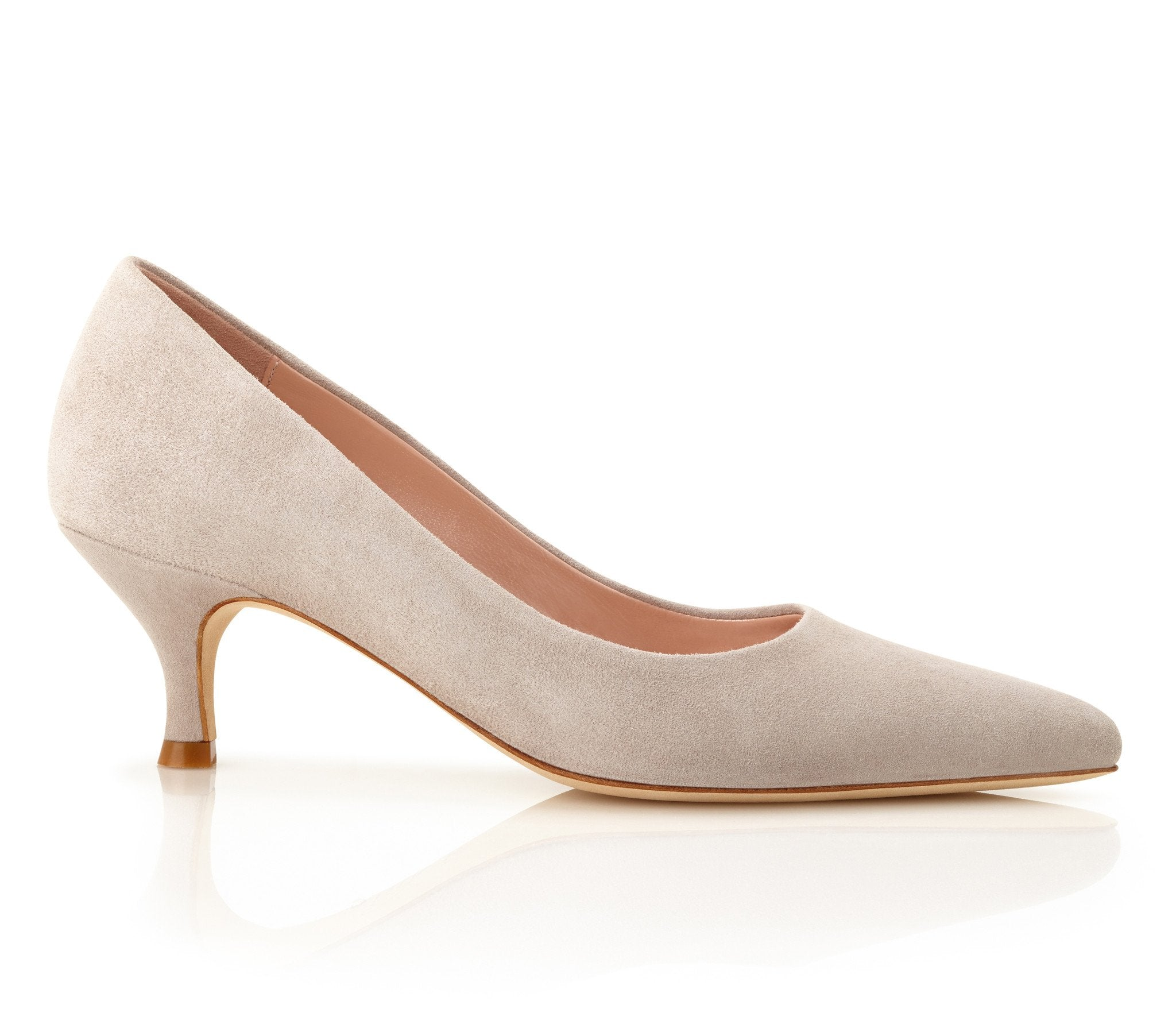 Olivia Vapour Suede Court Shoes By Emmy London
