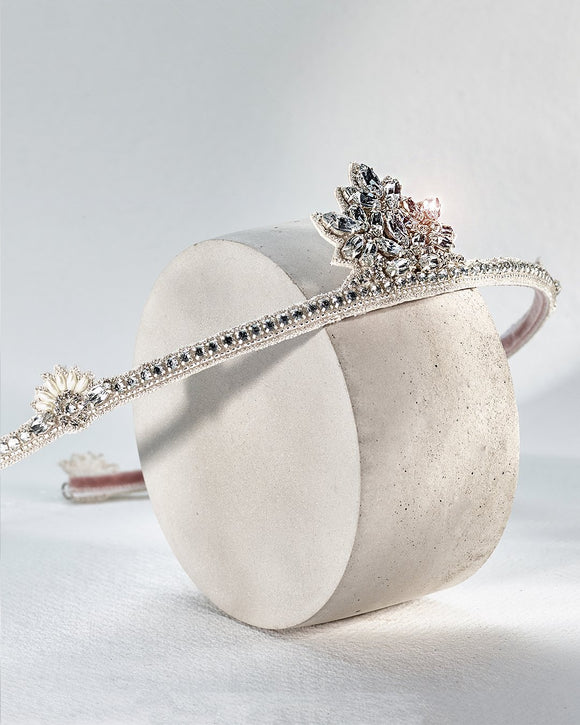 Porto Hair Halo By Emmy London Luxury Bridal Headdress