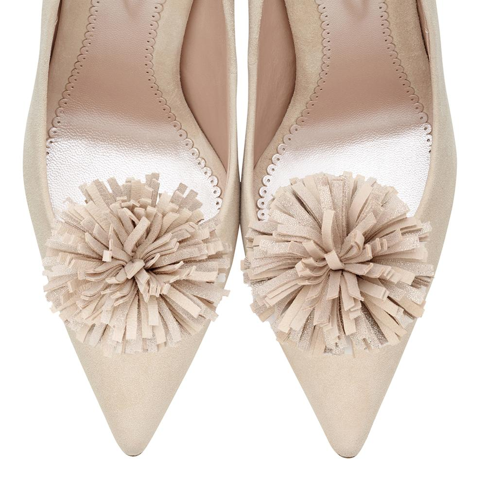 Pom Pom Suede Shoe Clips By Emmy London