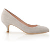 Kitten Heel Suede Court Shoes Poppy Vapour BY Emmy London