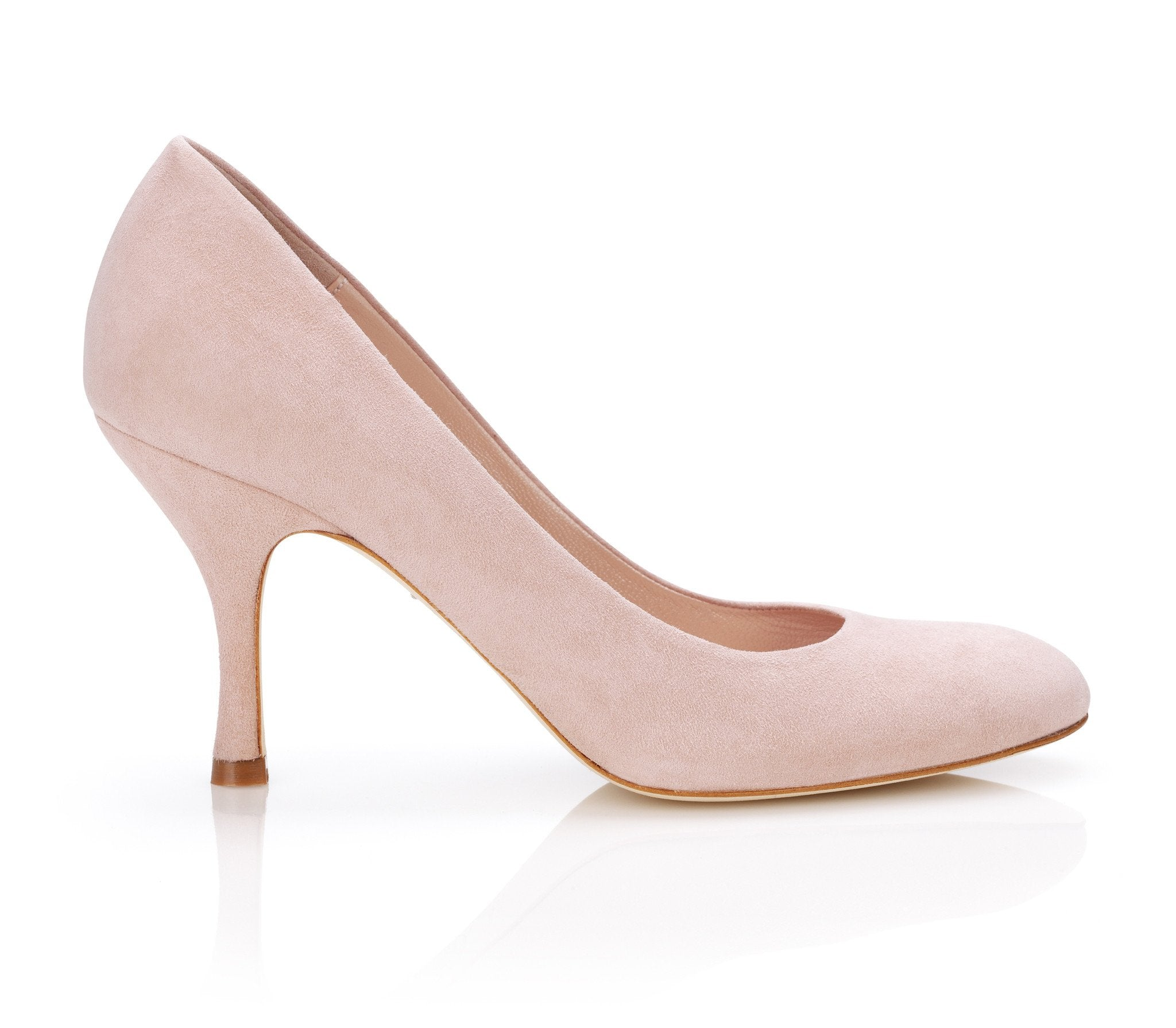 Poppy Misty Rose - Occasion Shoe - Misty Rose Kid Suede - Court Shoe