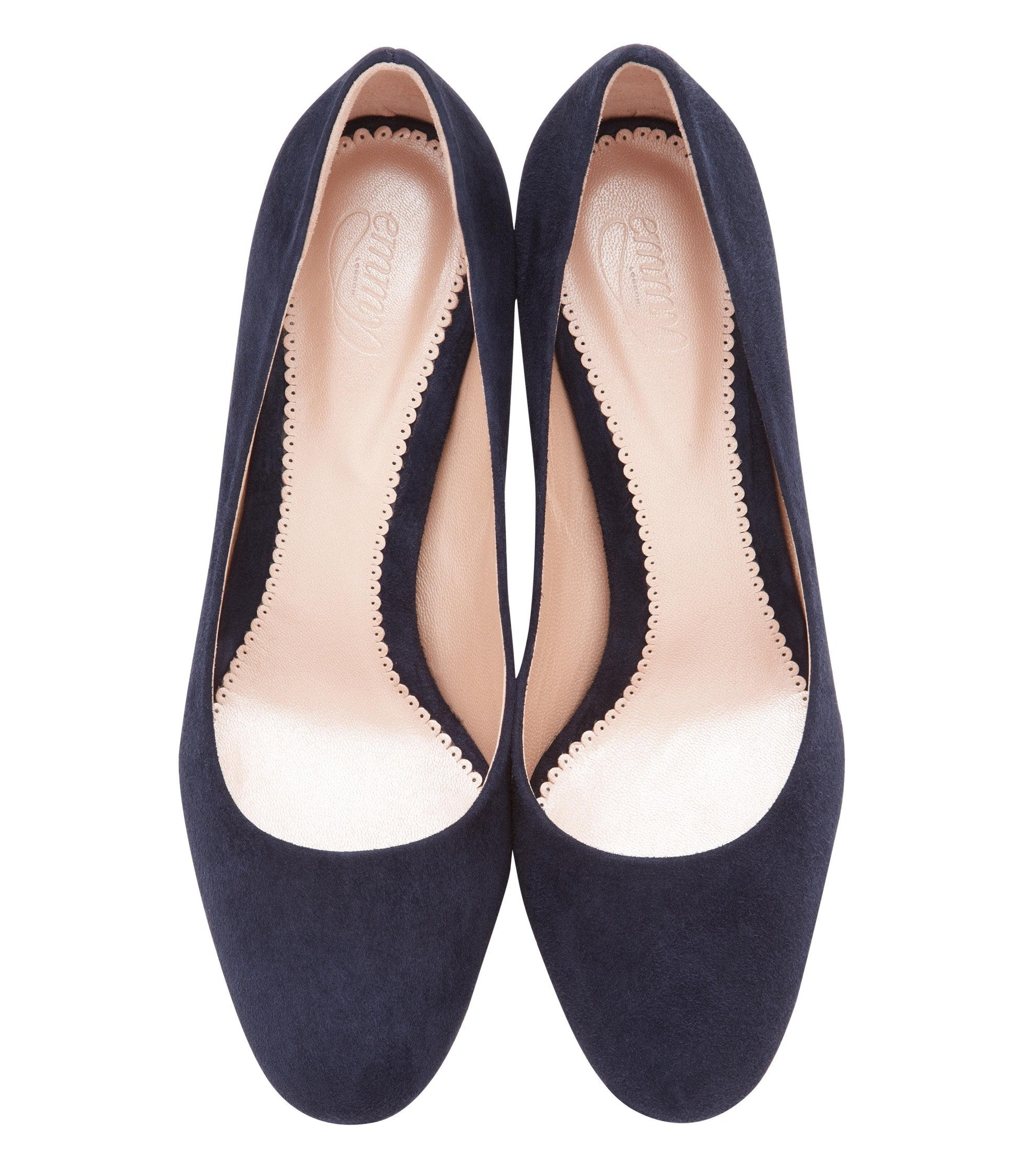 Poppy Midnight Suede Court Shoes By Emmy London Overhead