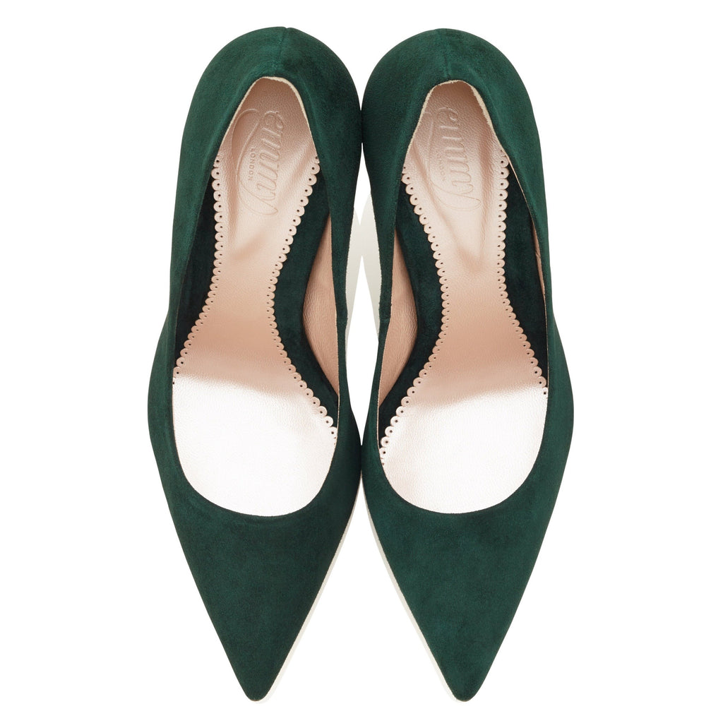 Rebecca Greenery Pointed Court Shoe Designed By Emmy London