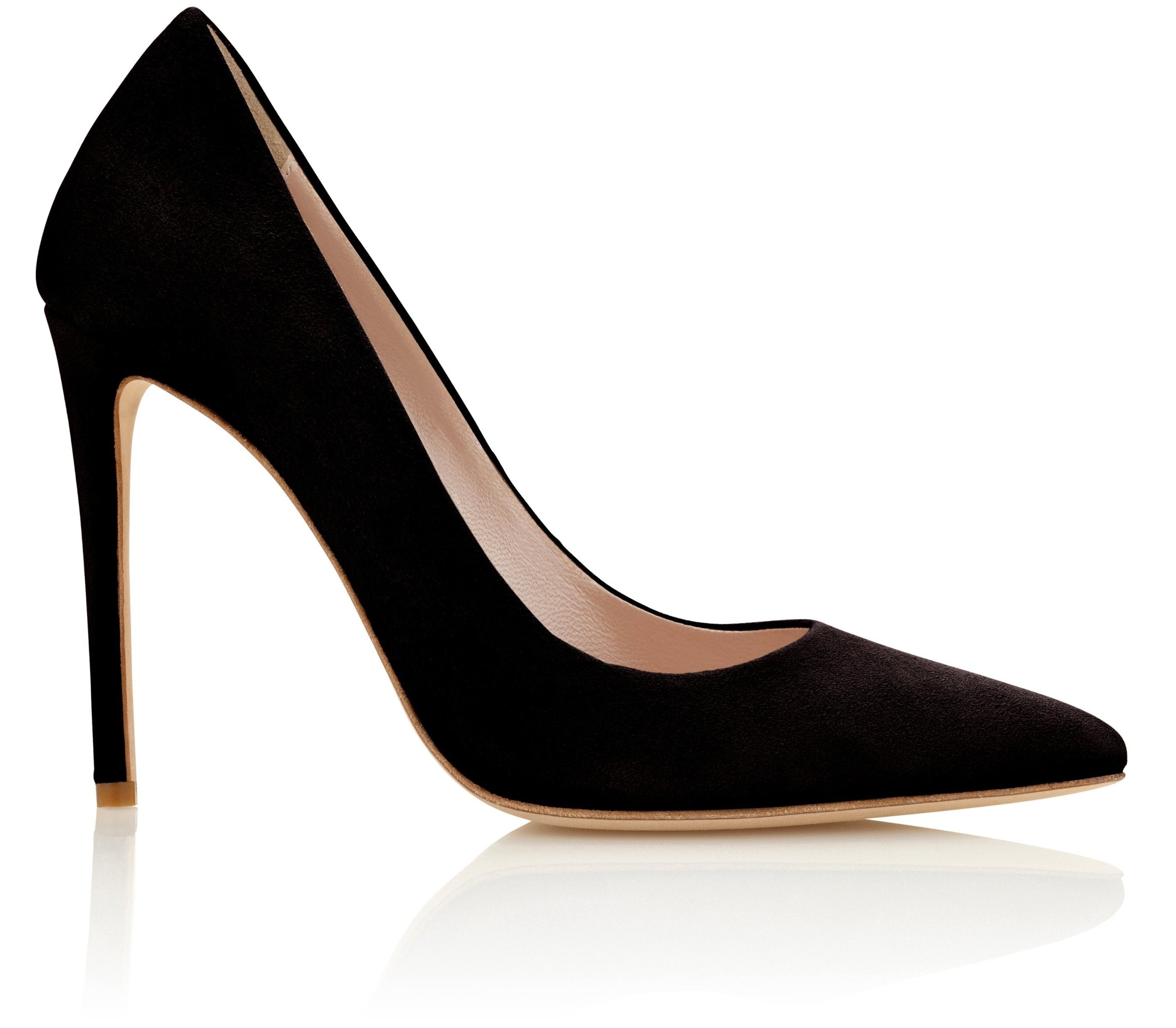 Suede High Heel Court Shoe Designed By Emmy London