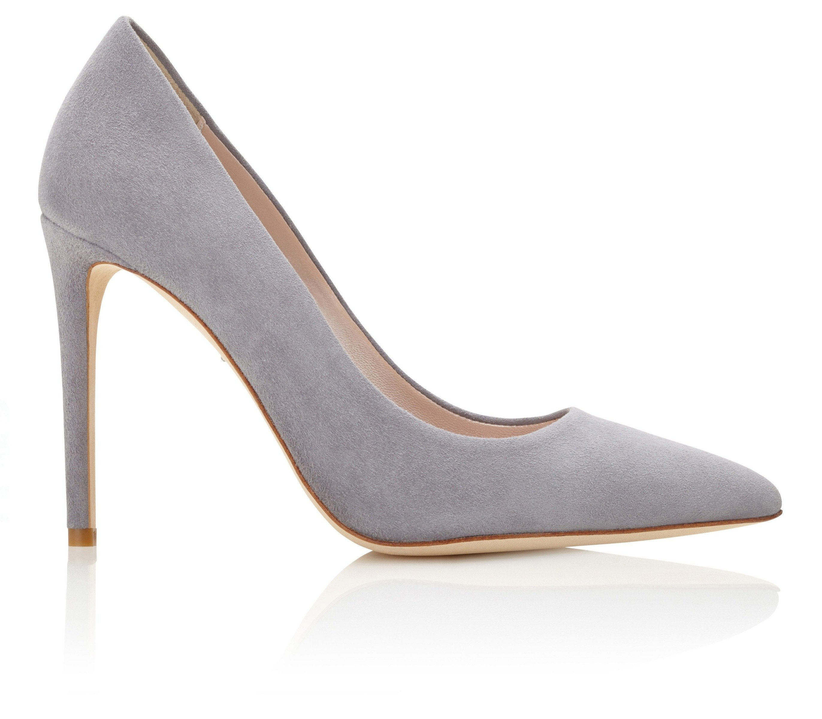 3dc5c750c40 ... Rebecca Steel Grey Suede Court Shoes Created by Emmy London ...