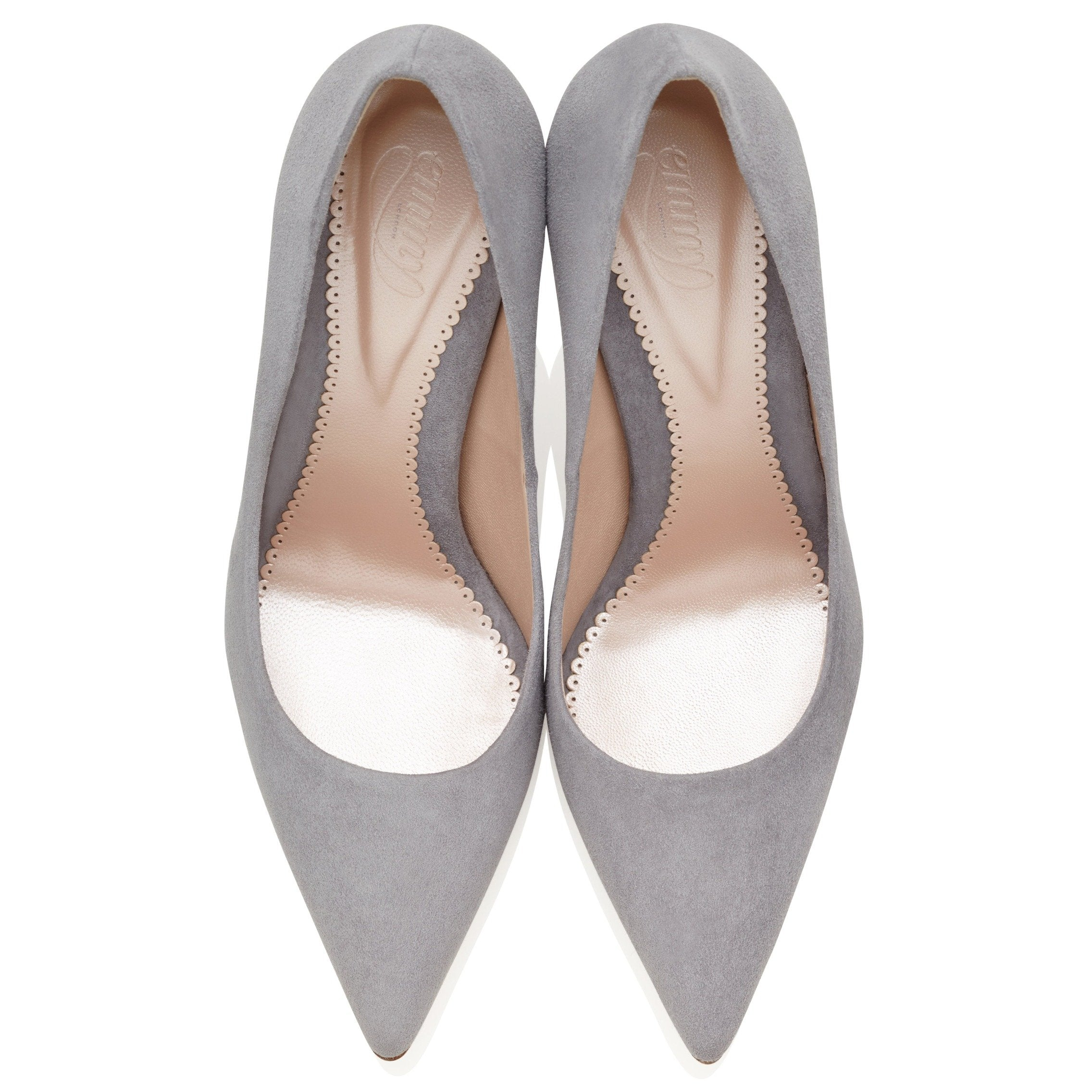 ea6d499047829 Rebecca Steel Grey Suede Court Shoes Created by Emmy London ...