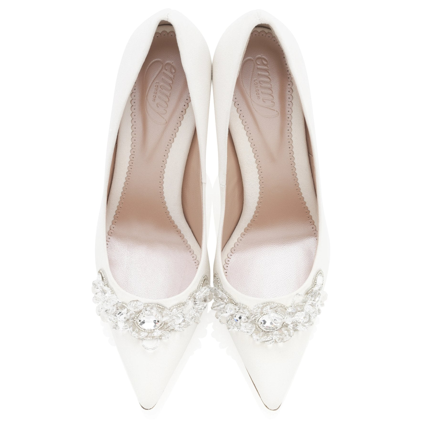 Embellished Ivory Bridal Court Shoes By Emmy London