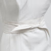 Emmy London Kid Suede Sash Belt in Ivory Bridal Belt Modern Wedding Accessory