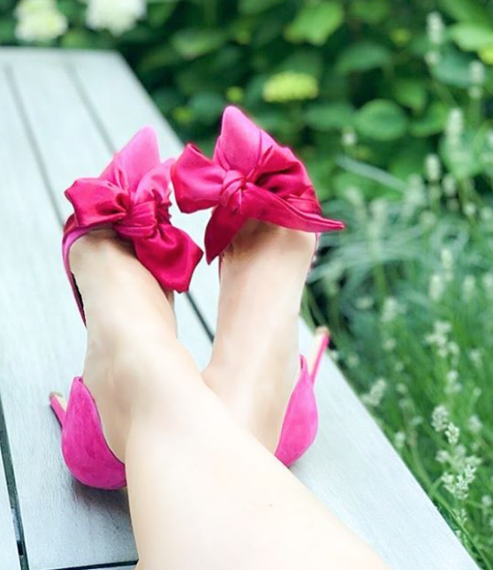 Florence Fuchsia Shoes Created Using The Emmy London bespoke Service
