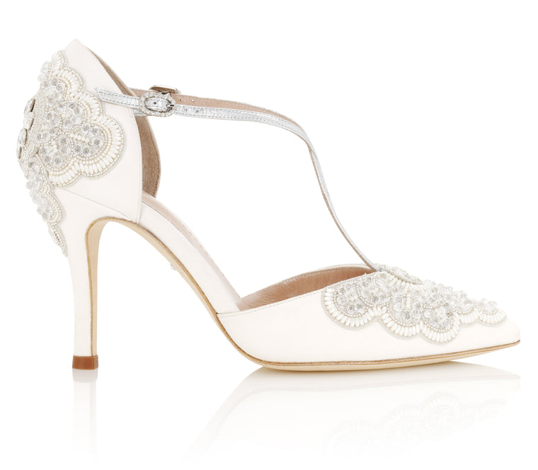 e3f9f1ea246a Sophia Swarovski Embellished Bridal Shoe Created By Emmy London ...