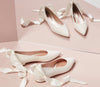 Flat Bridal Shoes Zoe Ivory By Emmy London In Mirror