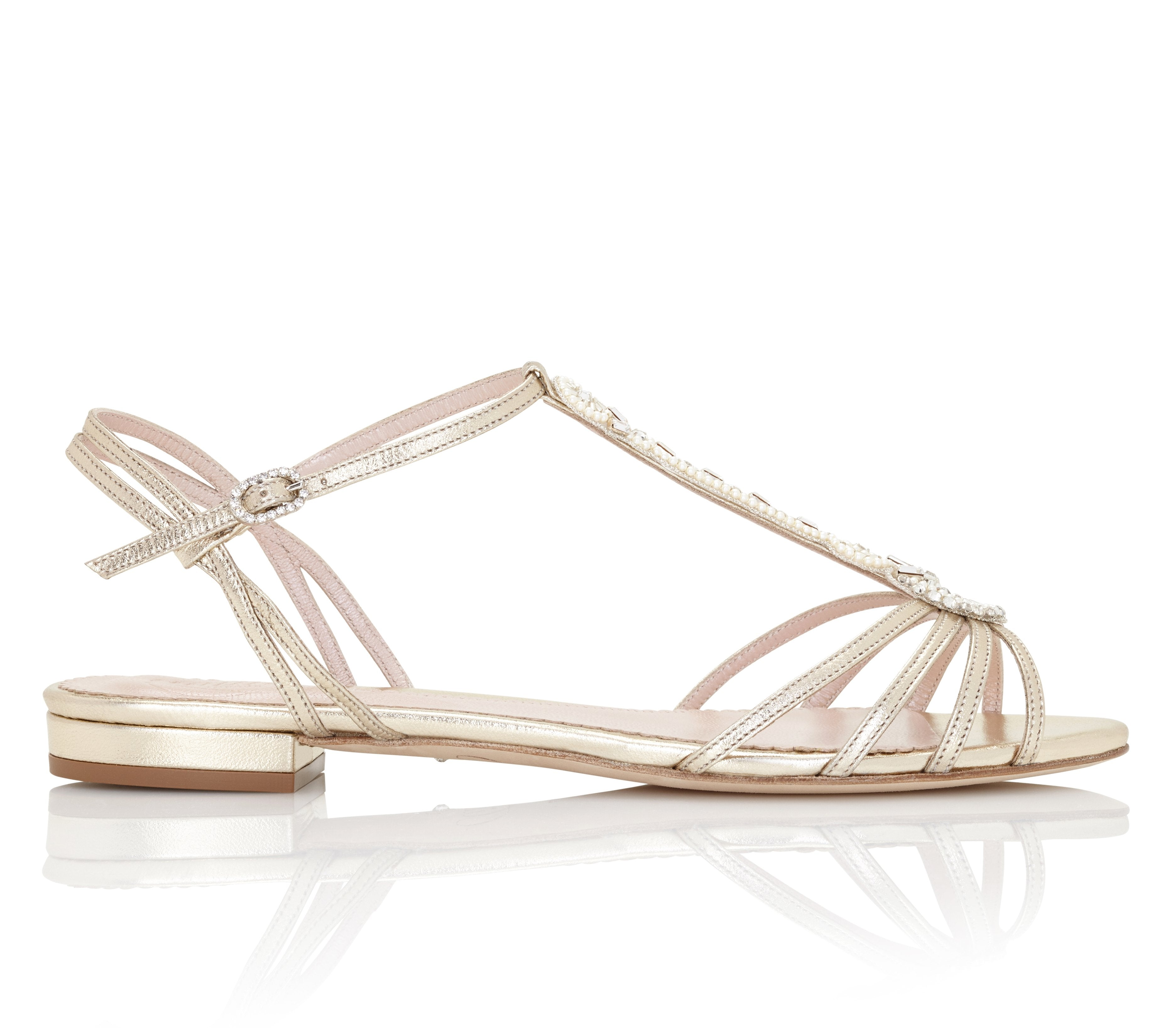 Flat Wedding Sandal for Destination Weddings Created By Emmy London
