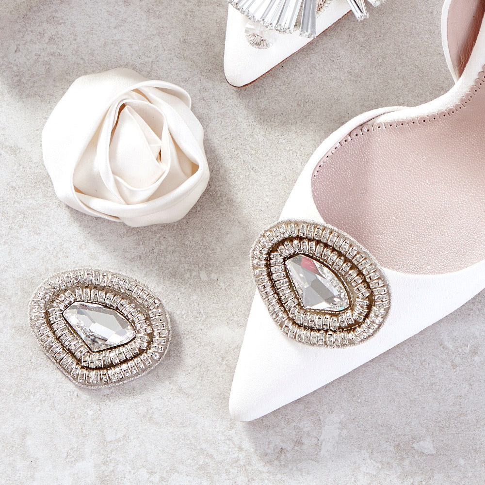 Emmy London Shoe Clips for Bridal Shoes