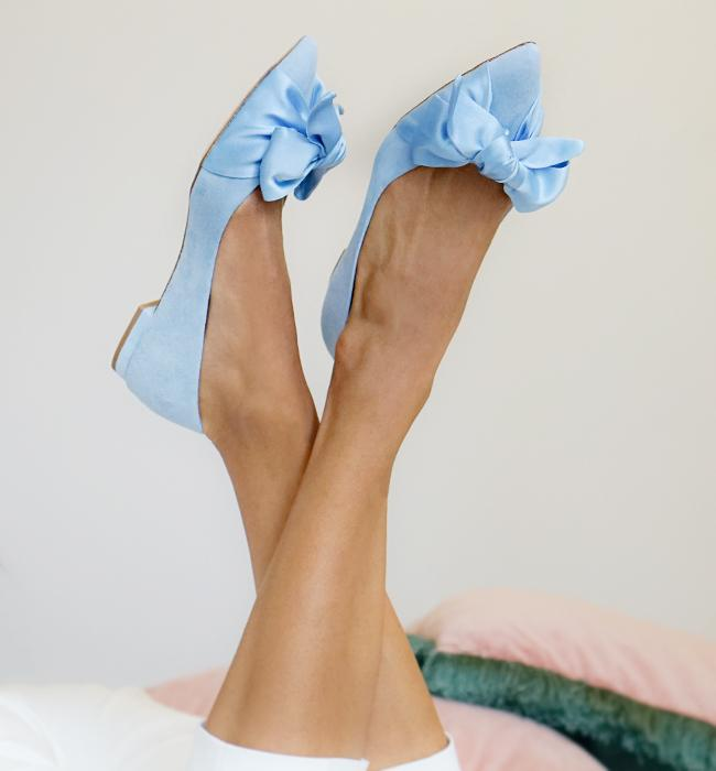 Florence Flat Powder Blue Bridal Shoes By Emmy London