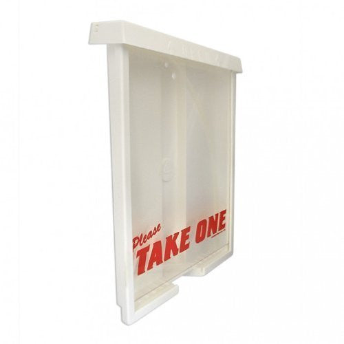 "Please Take One Sturdy Real Estate Brochure Box - Holds 75, 8.5"" x 11"" Flyers"