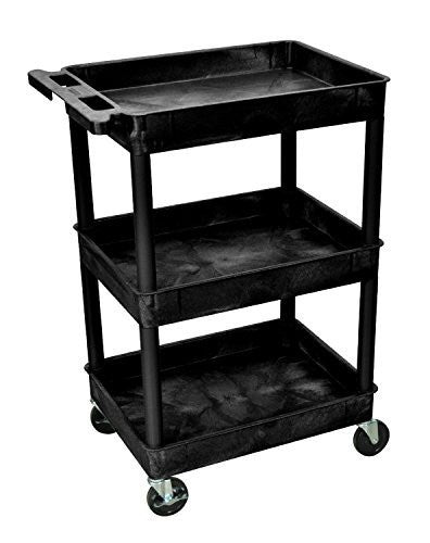 Luxor/ H Wilson Three Shelf Utility Cart