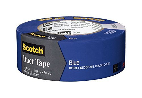 Scotch Duct Tape, Blue, 1.88-Inch by 60-Yard, 9 Pack