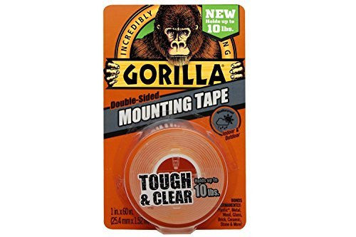 Gorilla Tape 6065001 Mounting Tape, Clear