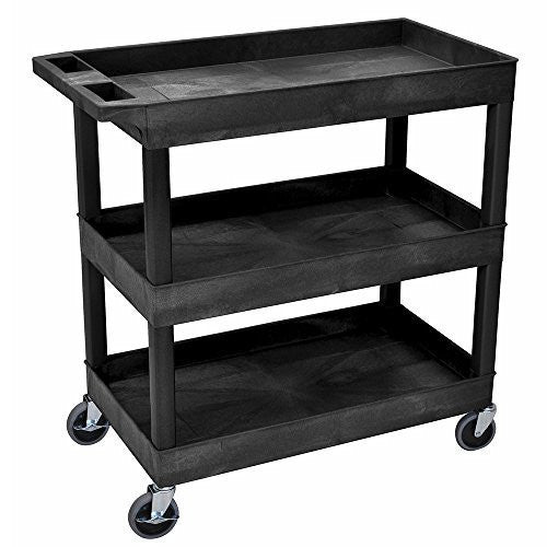 Luxor EC111 3 Shelf High Capacity Tub Cart
