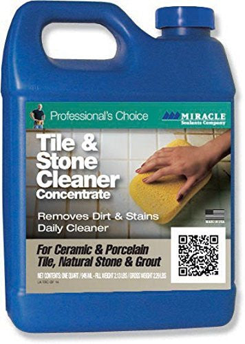 Miracle Sealants TSC QT SG Tile and Stone Cleaner, 1 quart Bottle